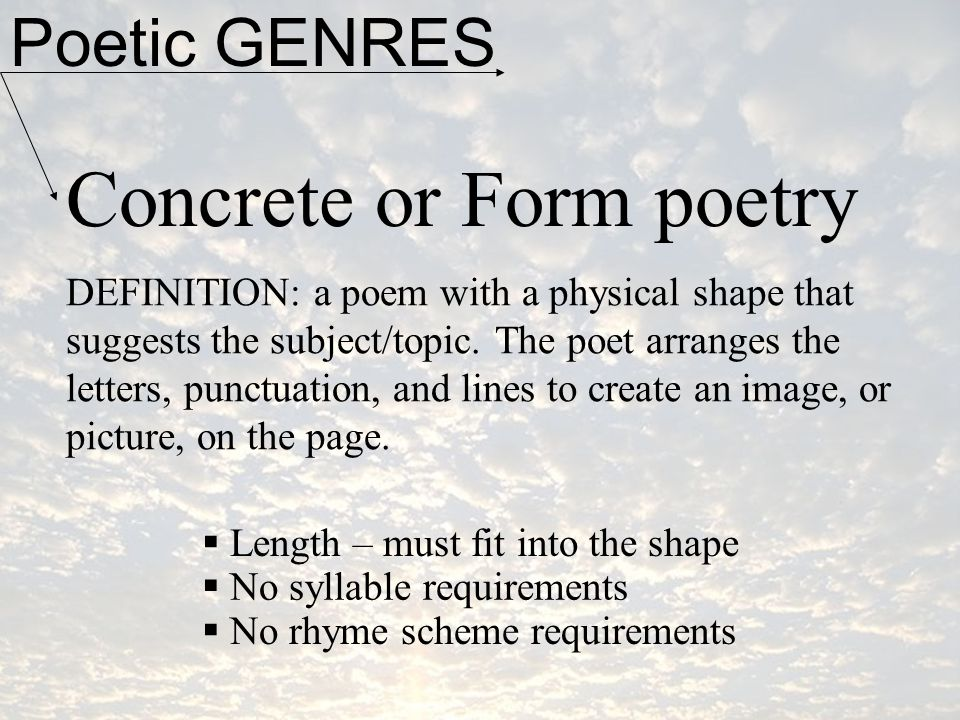 Concrete or Form poetry
