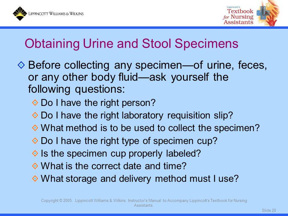 Obtaining Urine and Stool Specimens