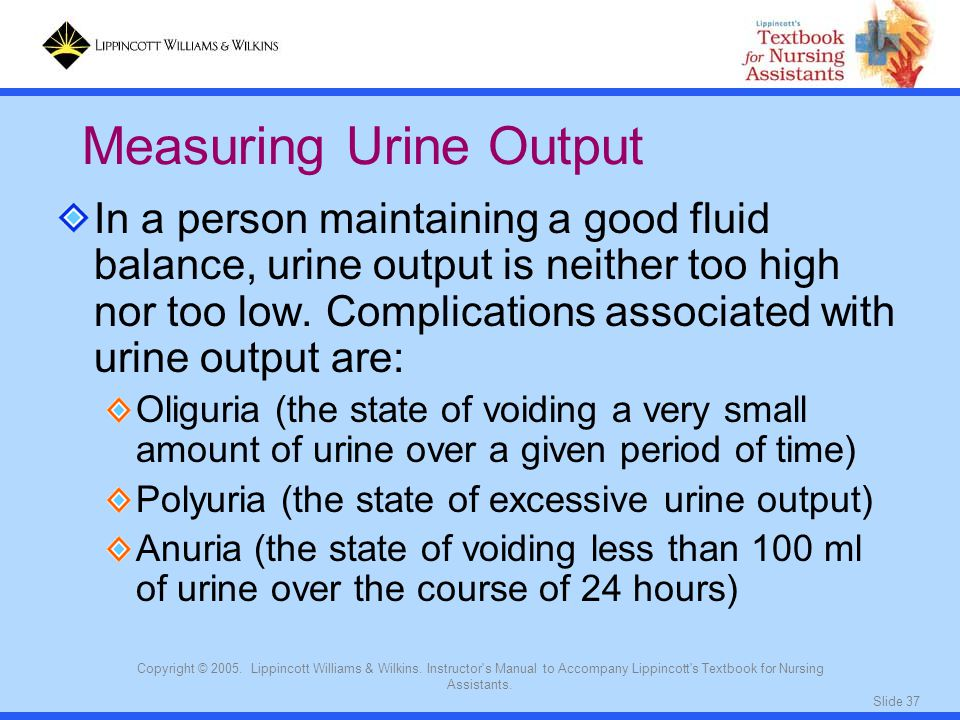 Measuring Urine Output