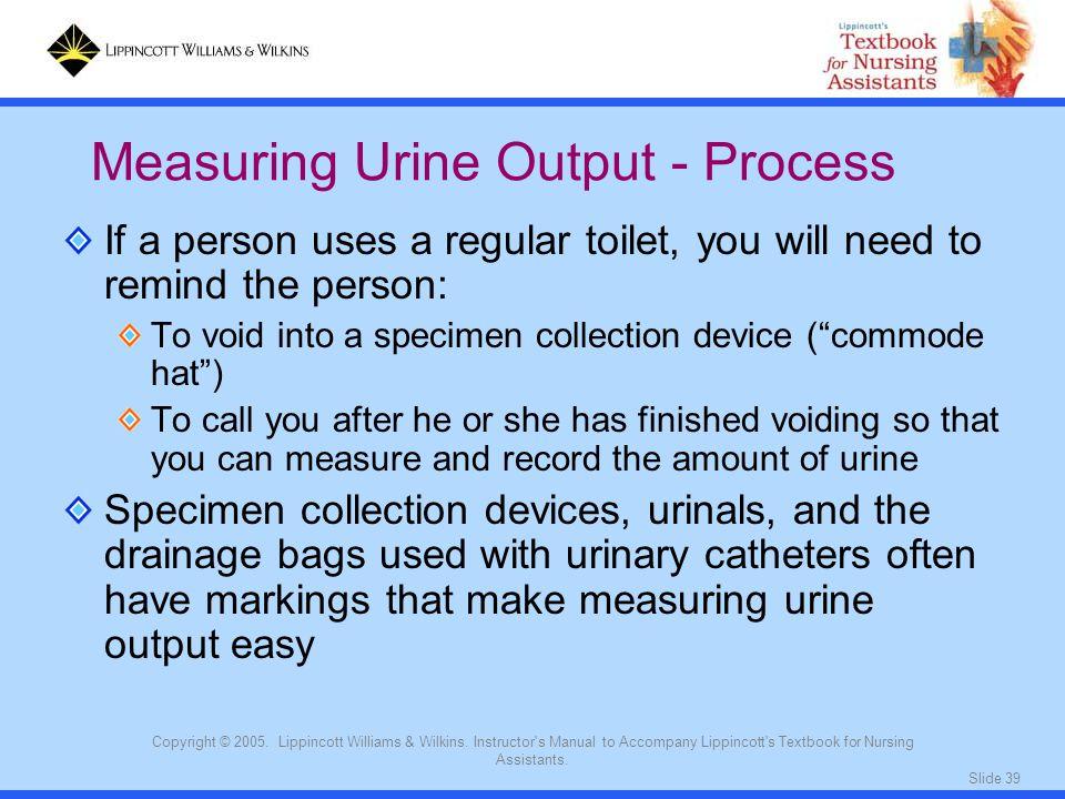 Measuring Urine Output - Process