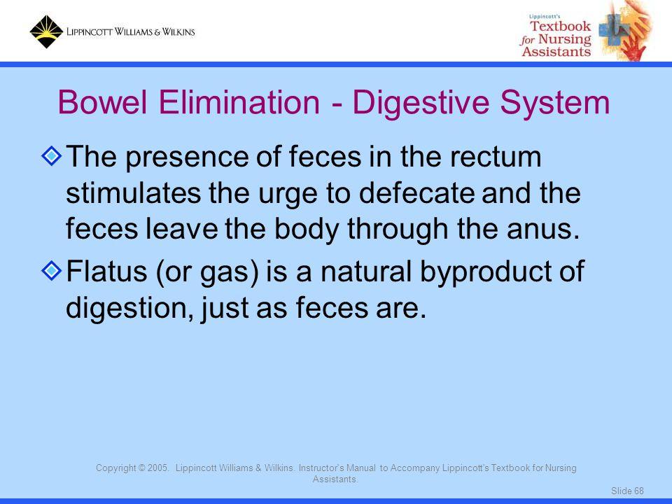Bowel Elimination - Digestive System