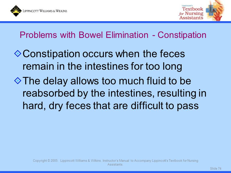 Problems with Bowel Elimination - Constipation