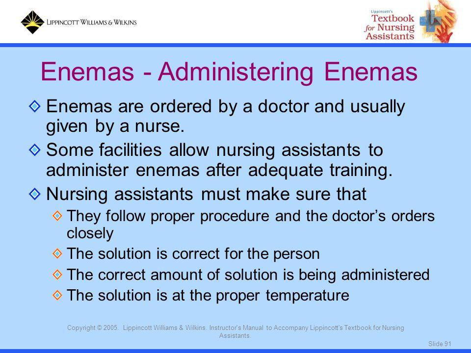 Enemas - Administering Enemas