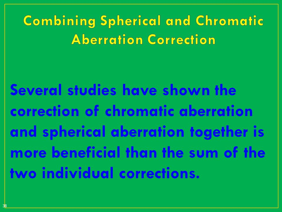 Combining Spherical and Chromatic Aberration Correction