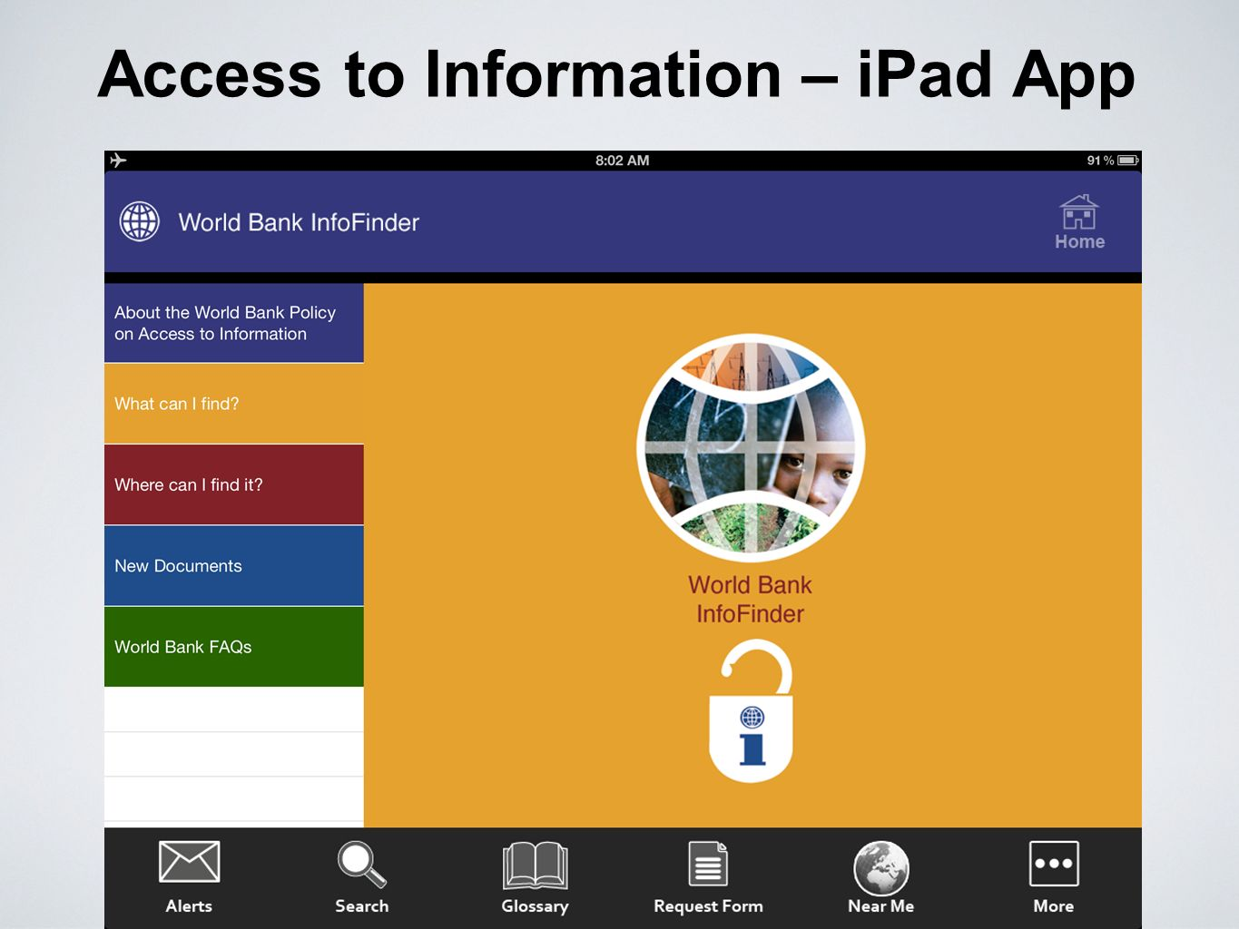Access to Information – iPad App