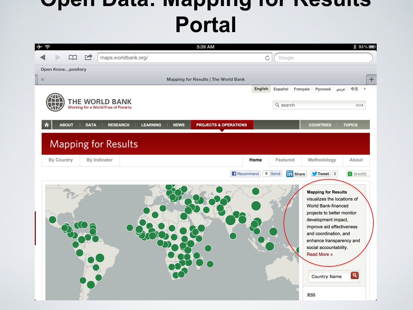 Open Data: Mapping for Results Portal