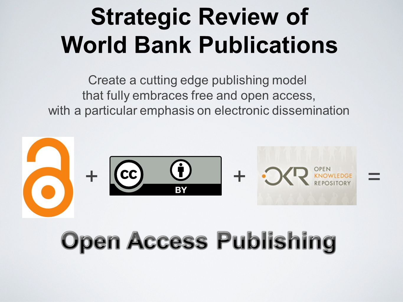 Strategic Review of World Bank Publications