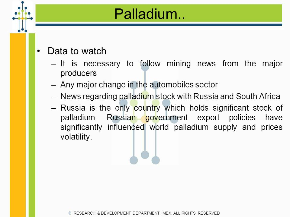 Palladium.. Data to watch