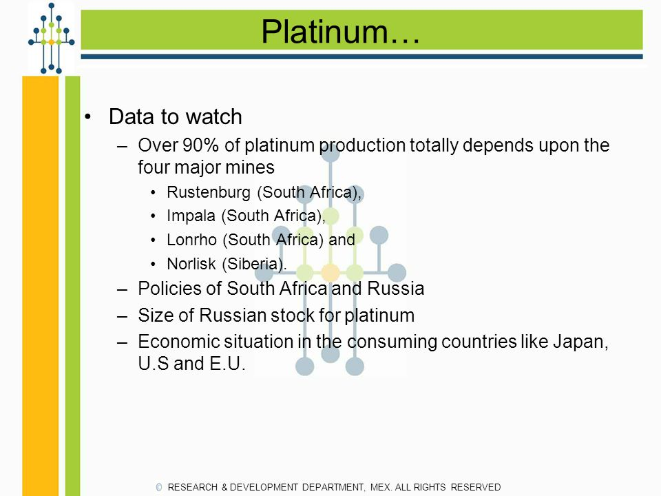 Platinum… Data to watch