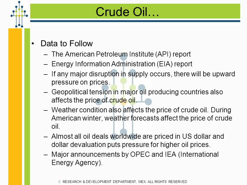 Crude Oil… Data to Follow