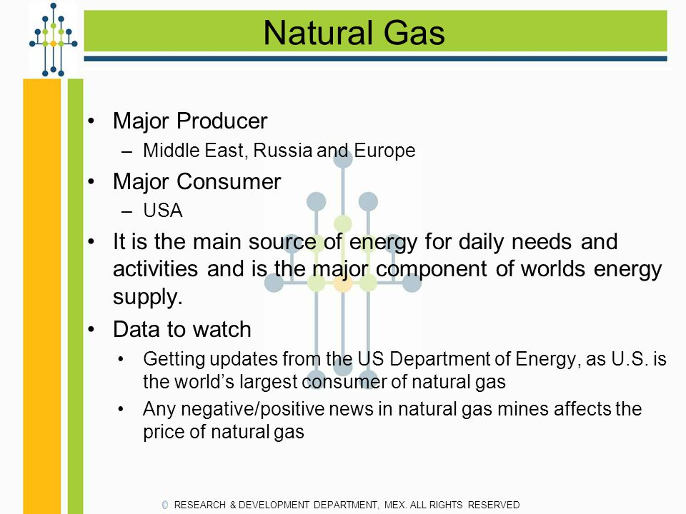 Natural Gas Major Producer Major Consumer