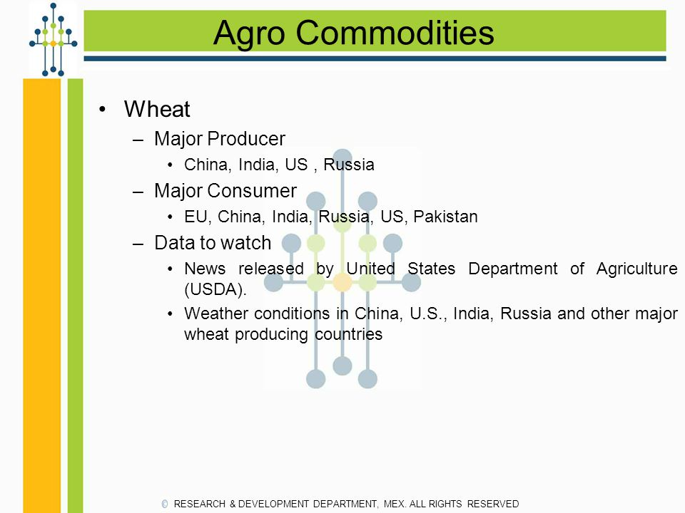 Agro Commodities Wheat Major Producer Major Consumer Data to watch