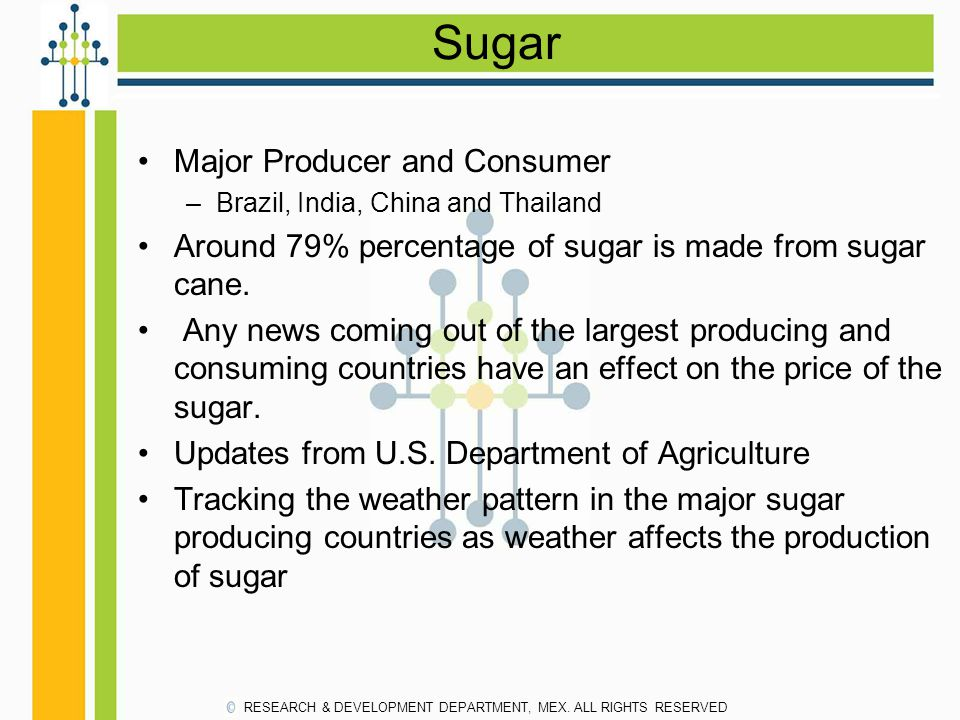 Sugar Major Producer and Consumer