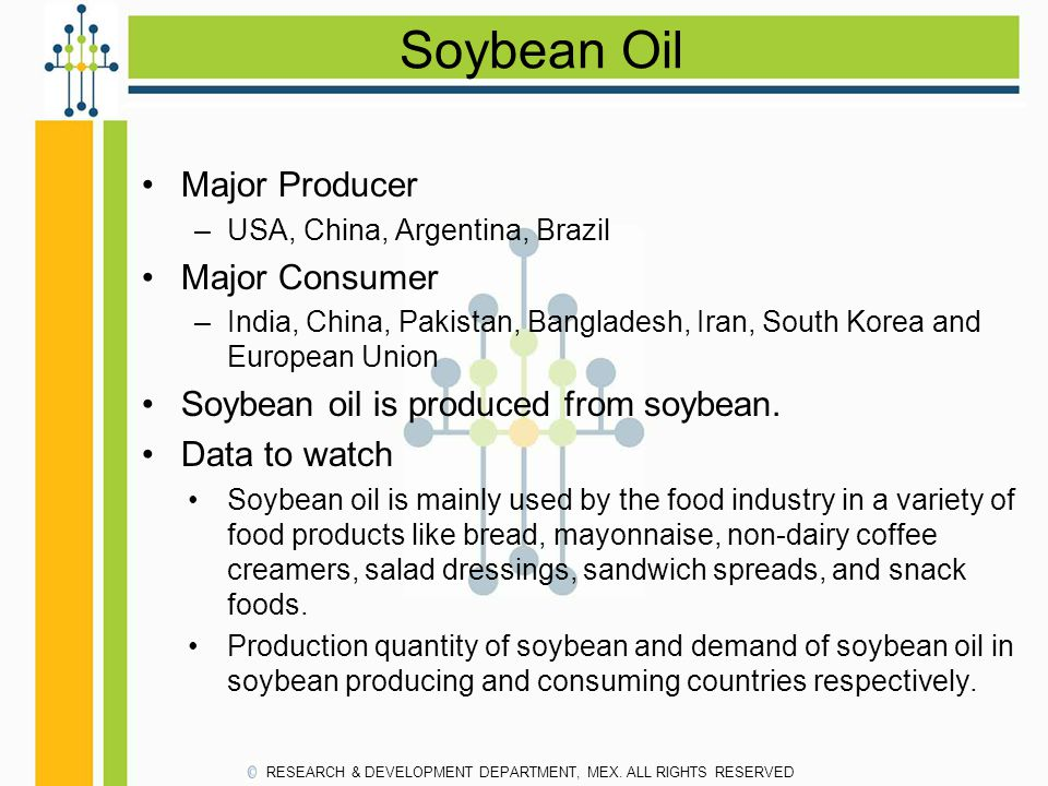 Soybean Oil Major Producer Major Consumer