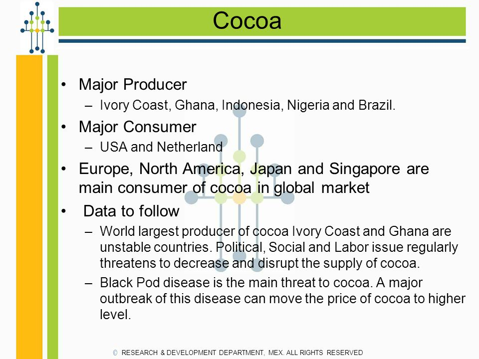 Cocoa Major Producer Major Consumer