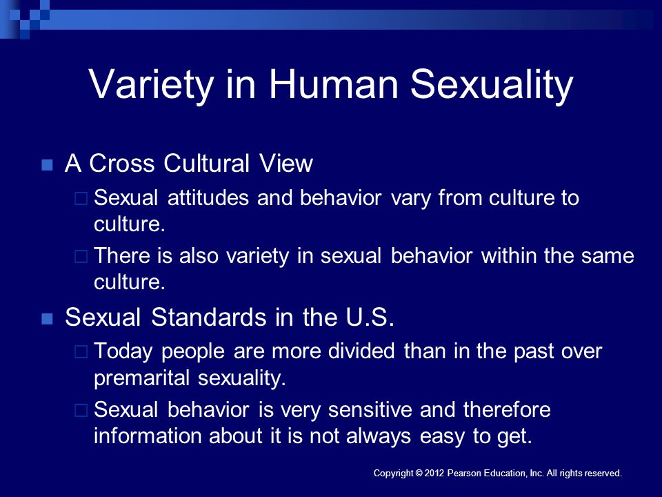 Variety in Human Sexuality
