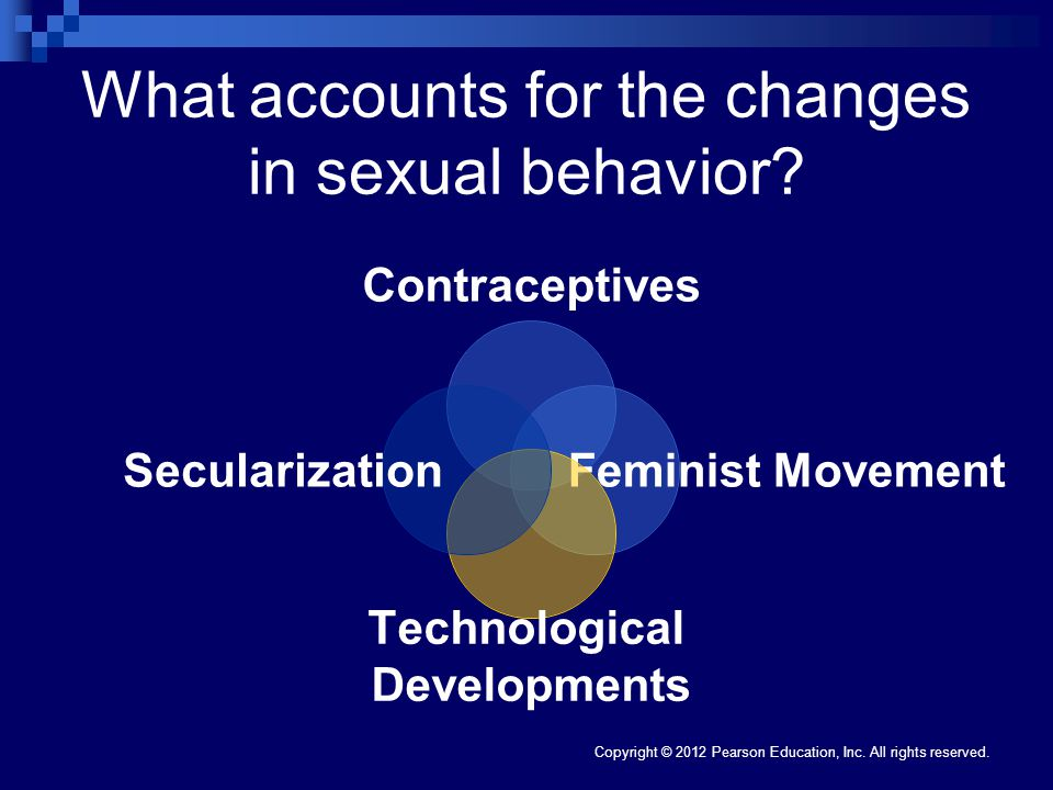 What accounts for the changes in sexual behavior