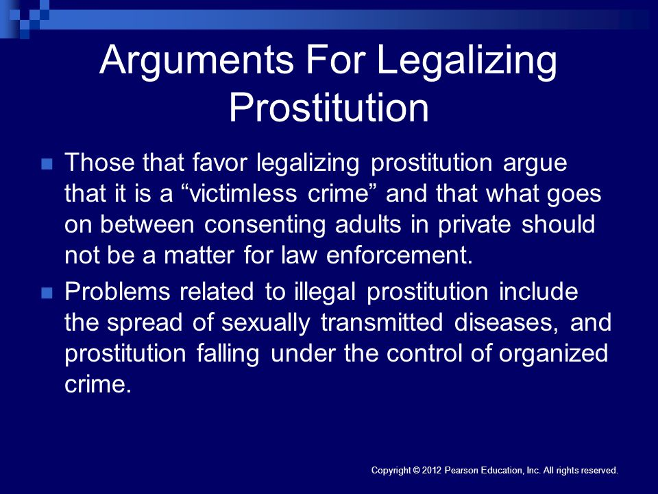 Arguments For Legalizing Prostitution