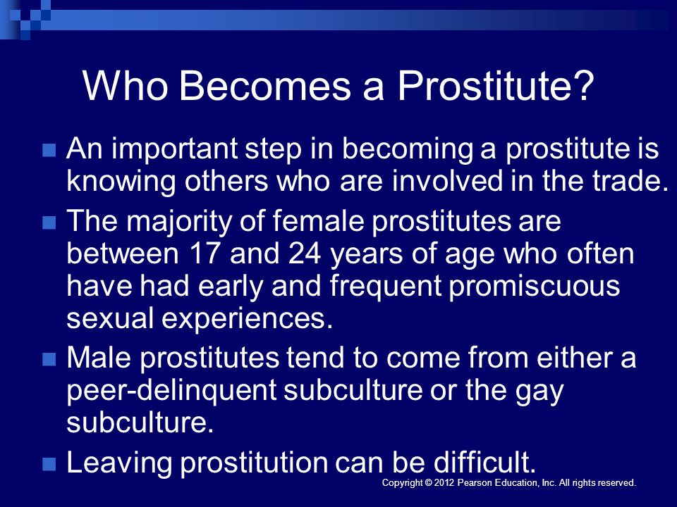 Who Becomes a Prostitute