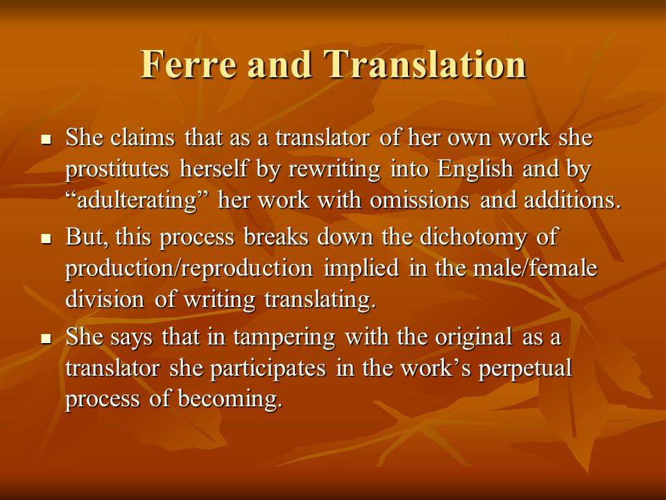 Ferre and Translation
