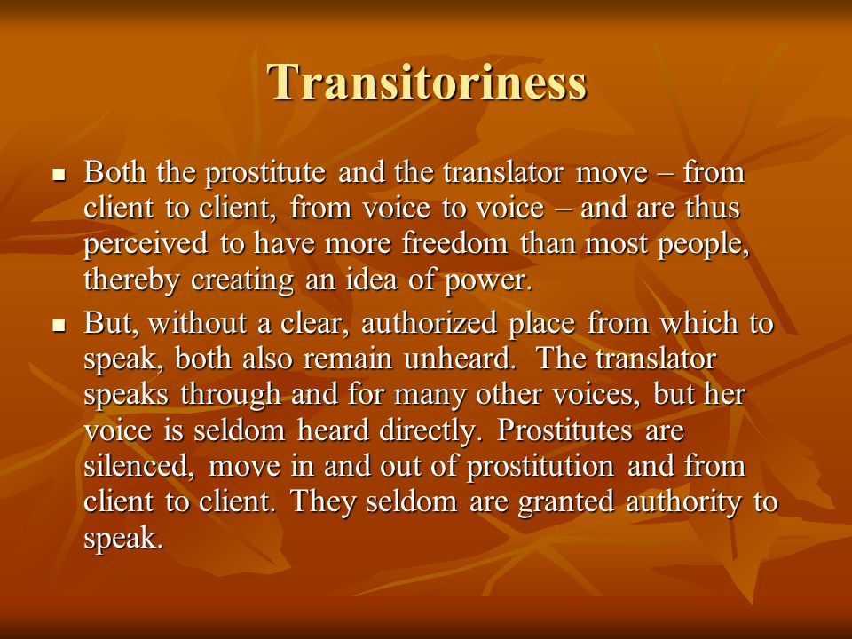 Transitoriness