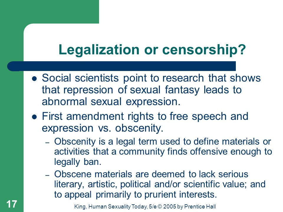 Legalization or censorship