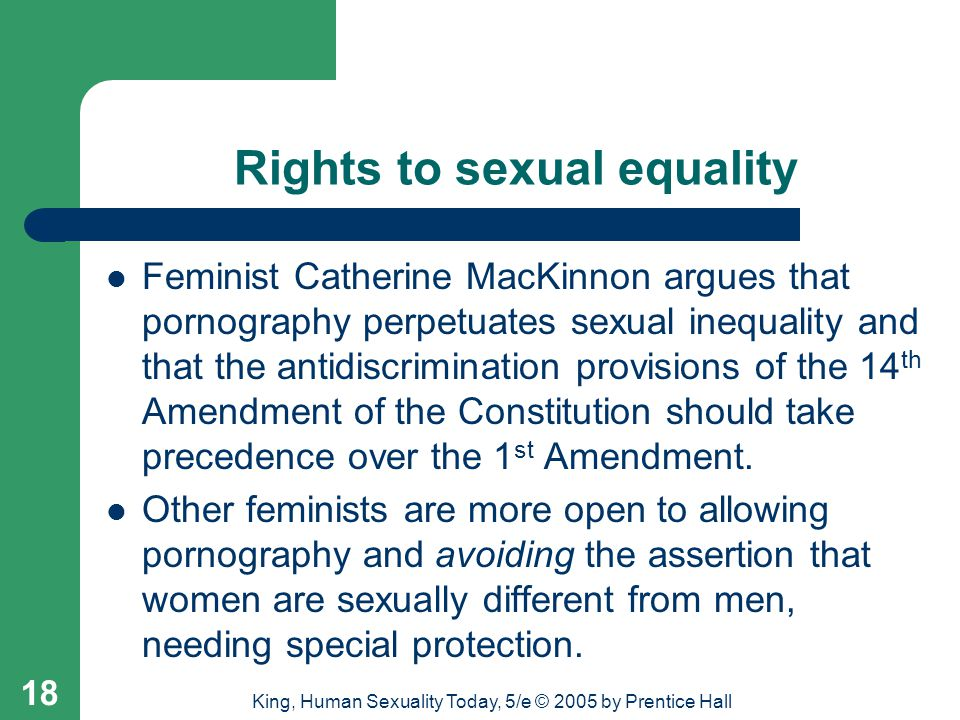 Rights to sexual equality