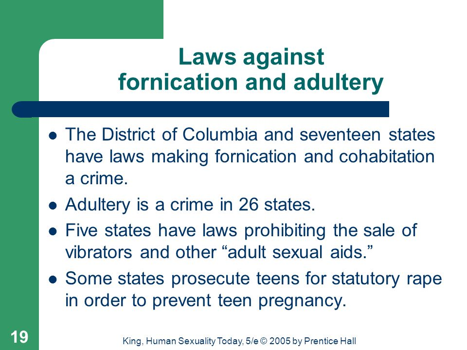 Laws against fornication and adultery