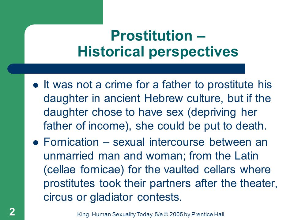 Prostitution – Historical perspectives
