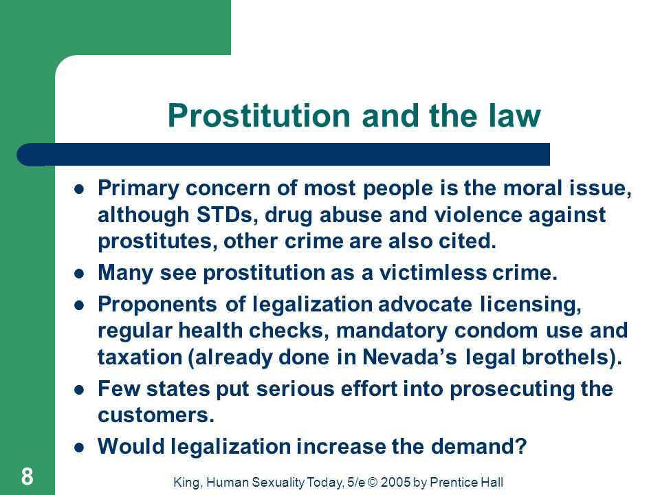 Prostitution and the law