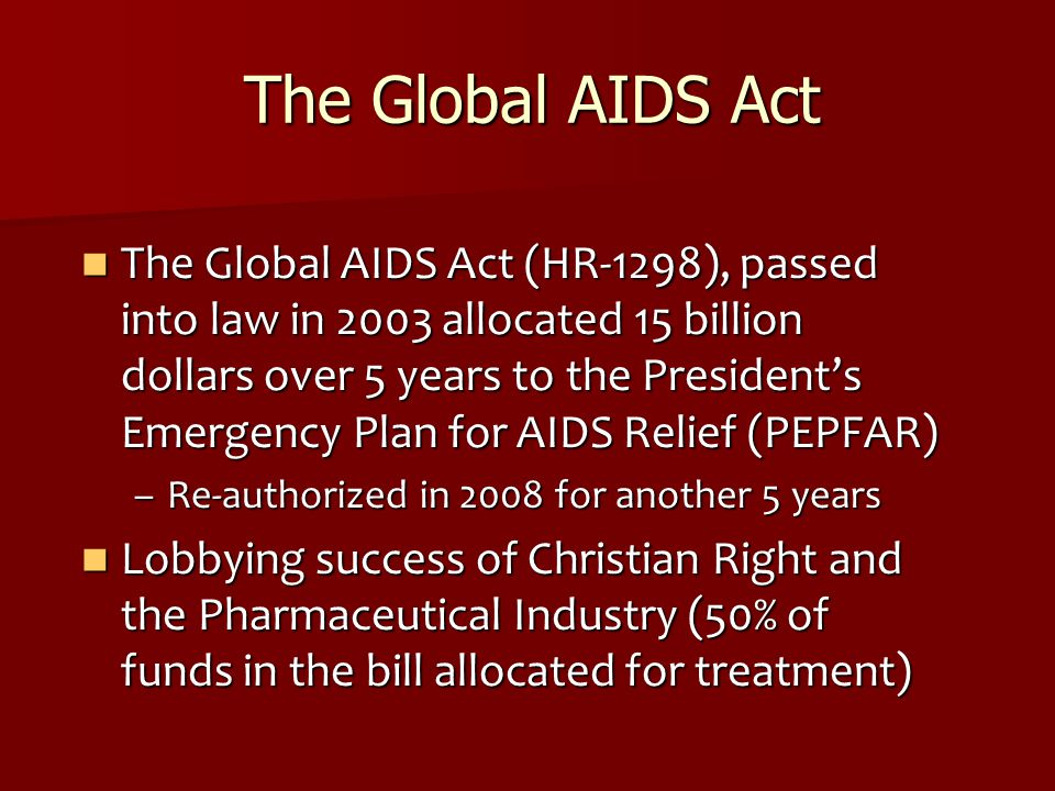 The Global AIDS Act
