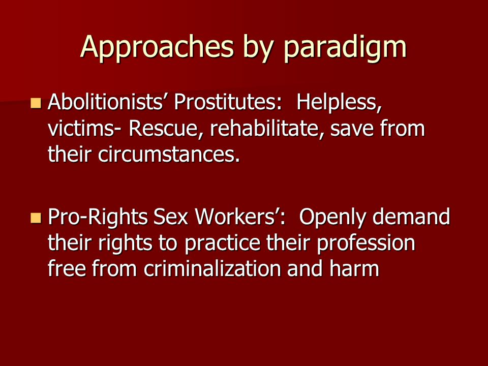 Approaches by paradigm