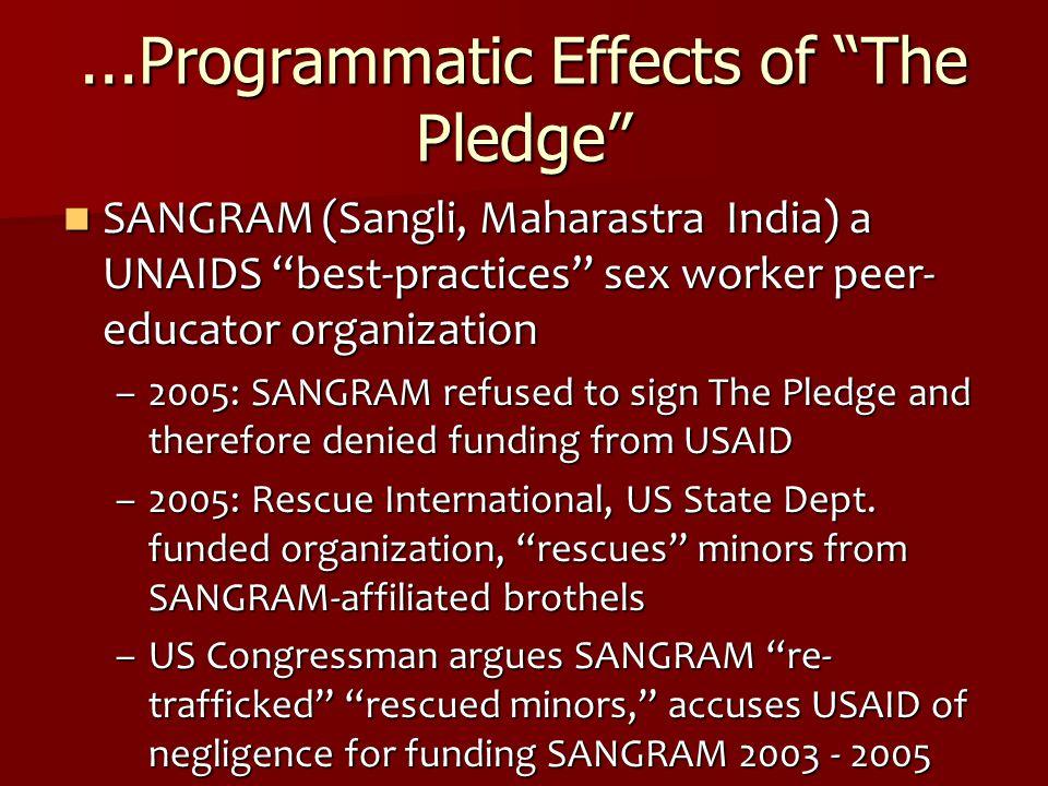 ...Programmatic Effects of The Pledge
