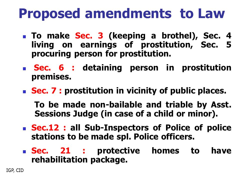 Proposed amendments to Law