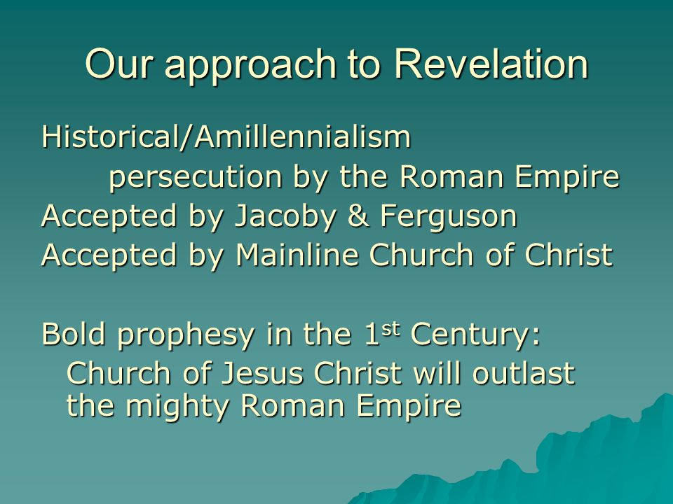 Our approach to Revelation