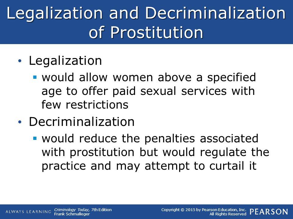 Legalization and Decriminalization of Prostitution