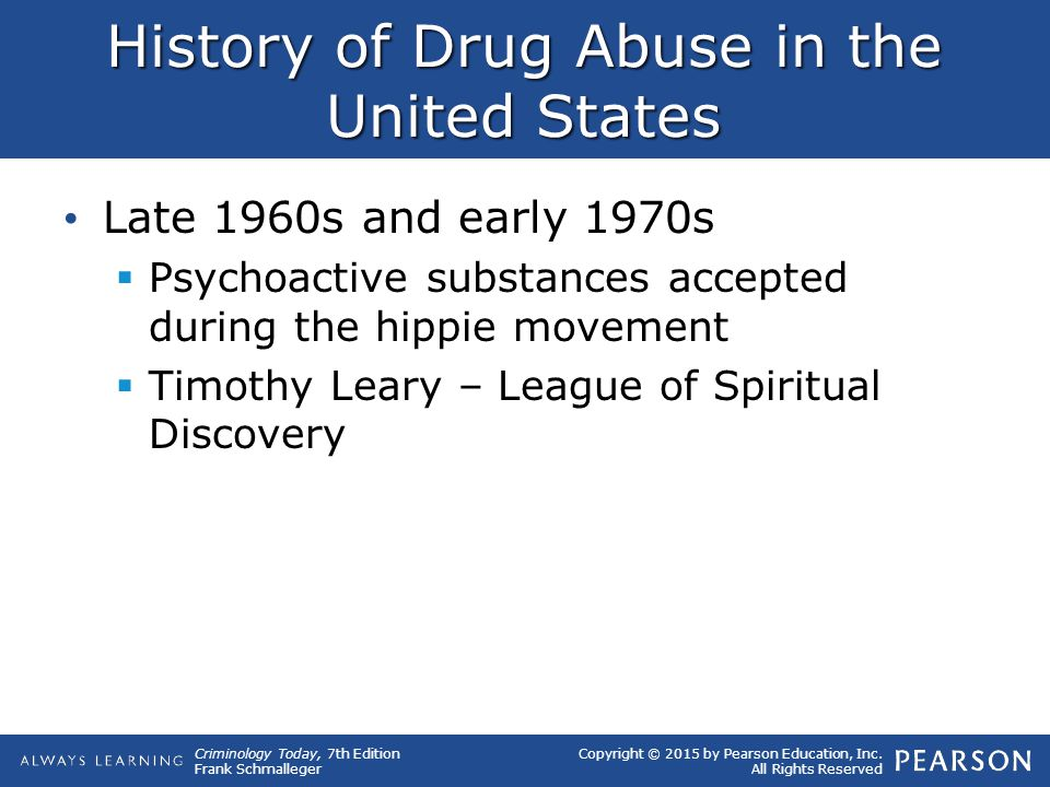 History of Drug Abuse in the United States