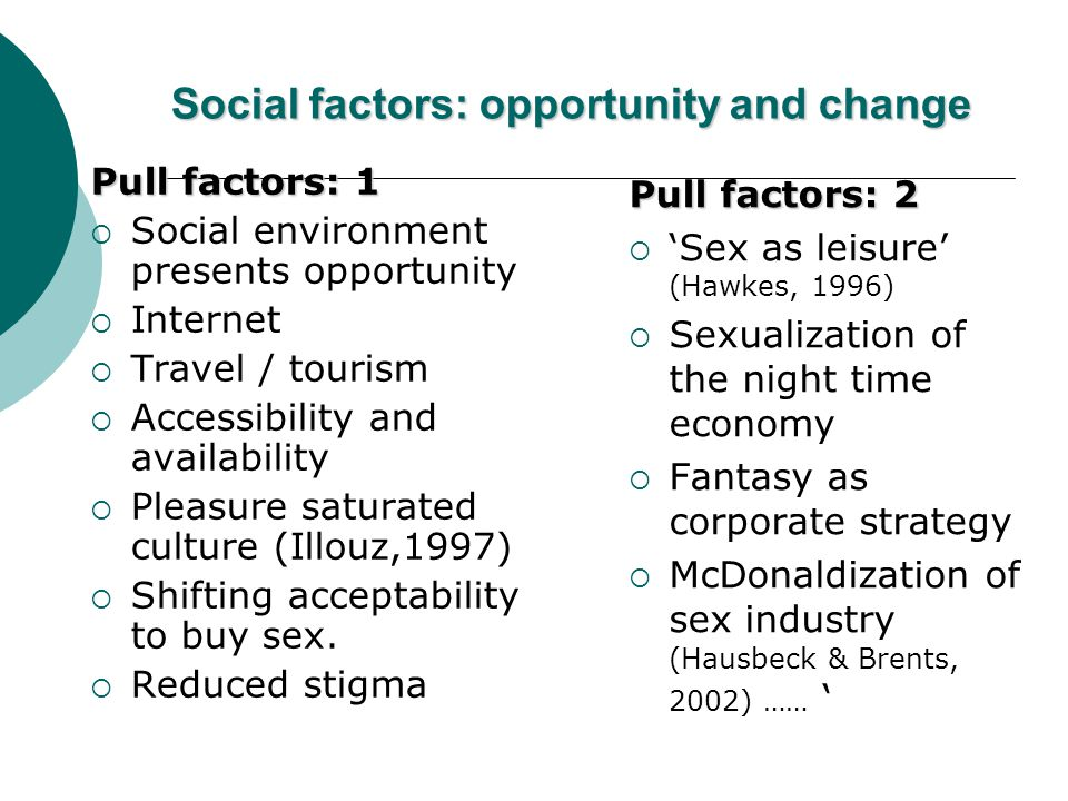 Social factors: opportunity and change