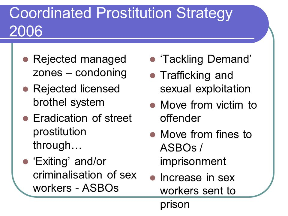 Coordinated Prostitution Strategy 2006