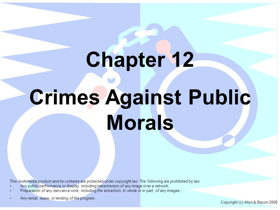 Crimes Against Public Morals
