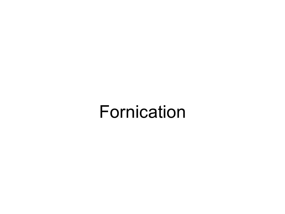 Fornication