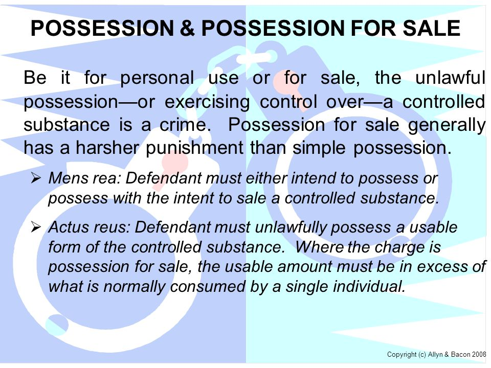 POSSESSION & POSSESSION FOR SALE