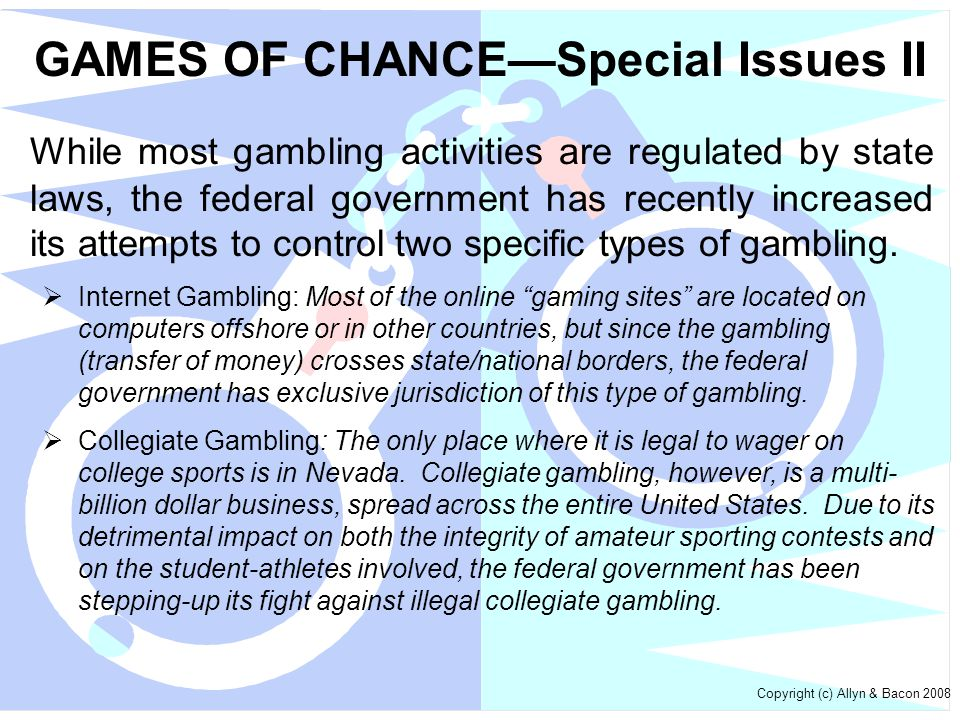 GAMES OF CHANCE—Special Issues II