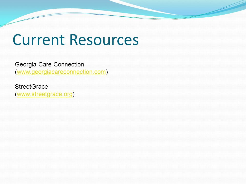 Current Resources Georgia Care Connection