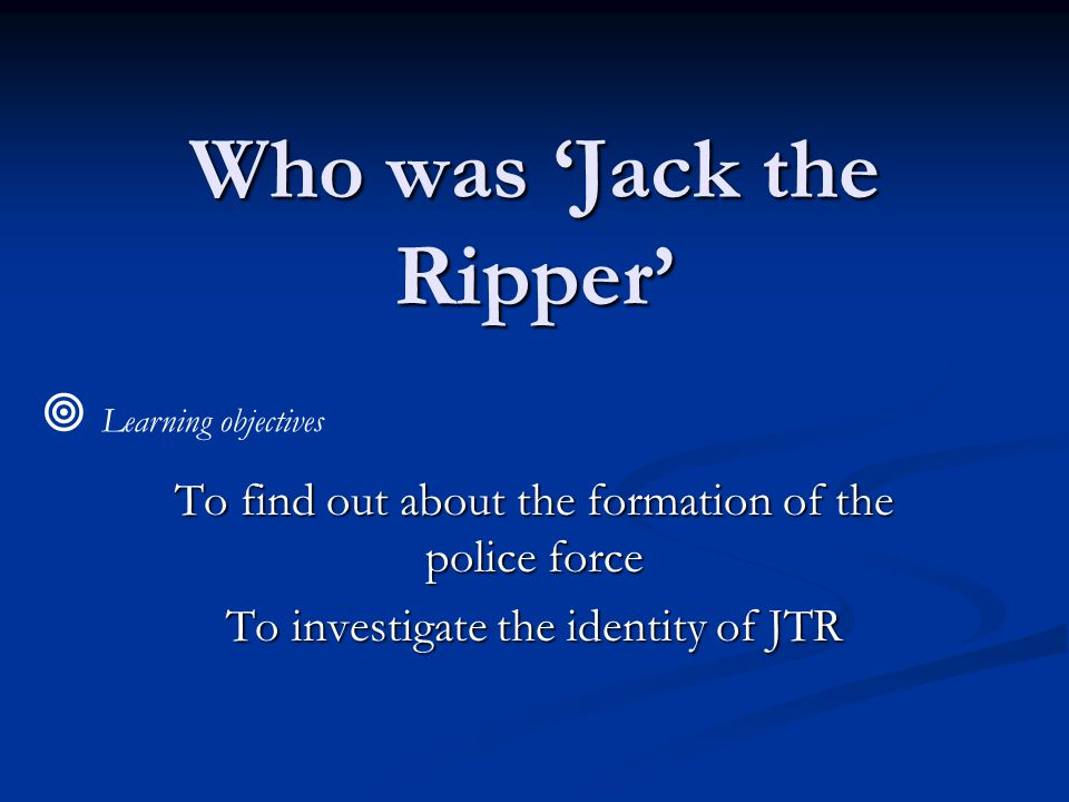 Who was 'Jack the Ripper'