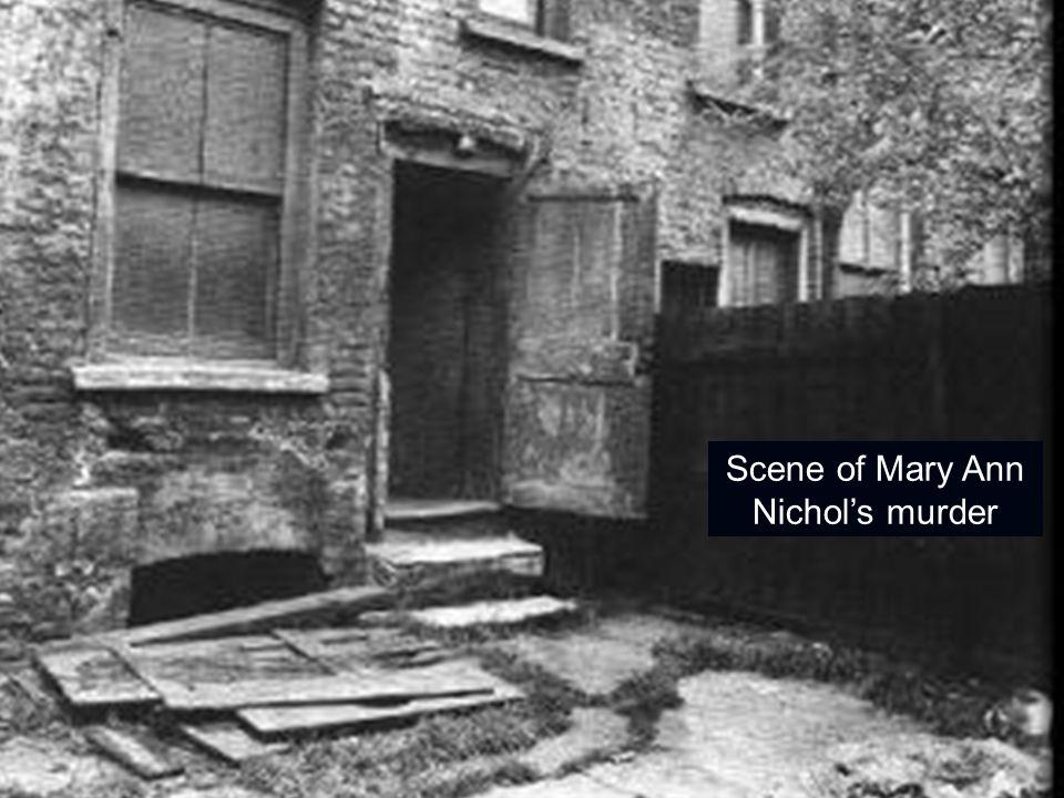 Scene of Mary Ann Nichol's murder