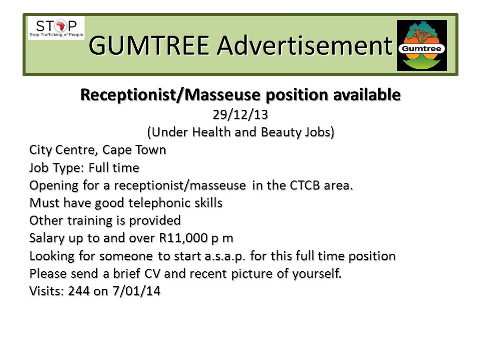 GUMTREE Advertisement