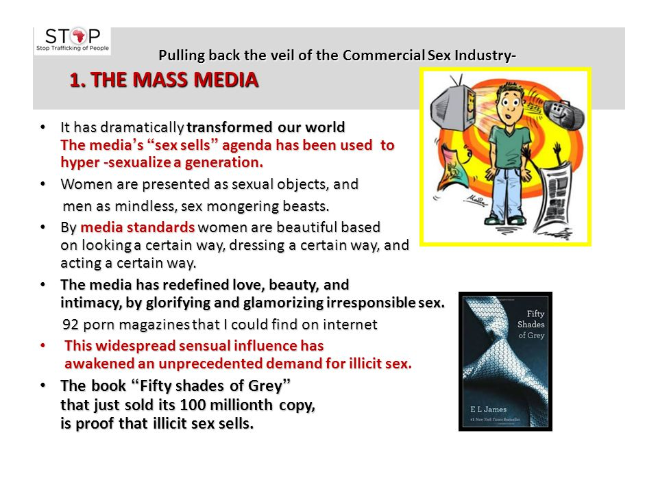 Pulling back the veil of the Commercial Sex Industry- 1. THE MASS MEDIA