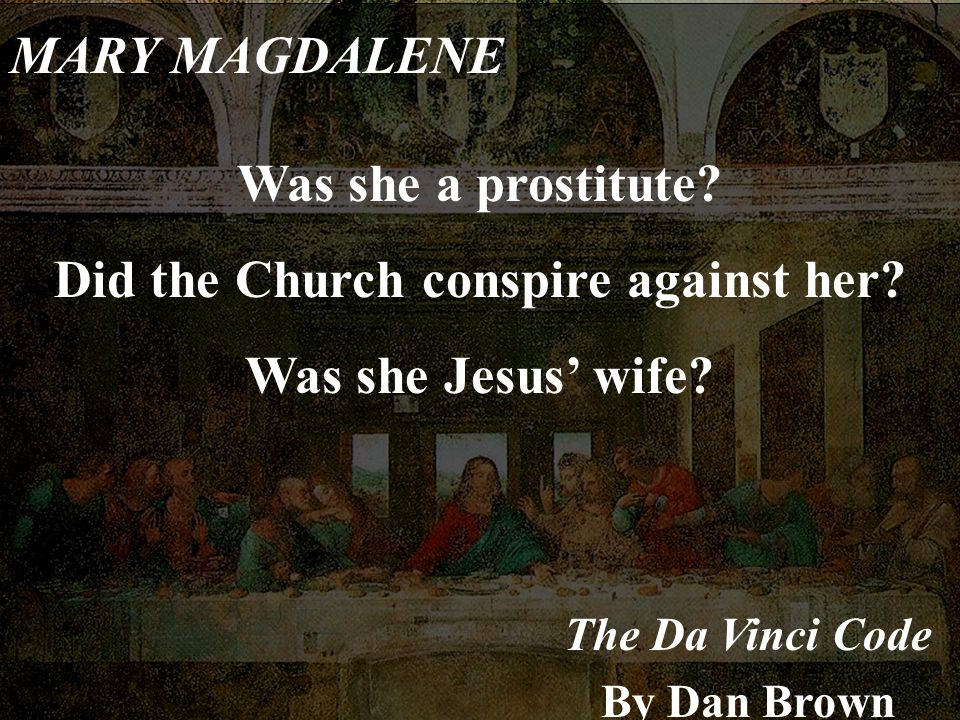 Did the Church conspire against her