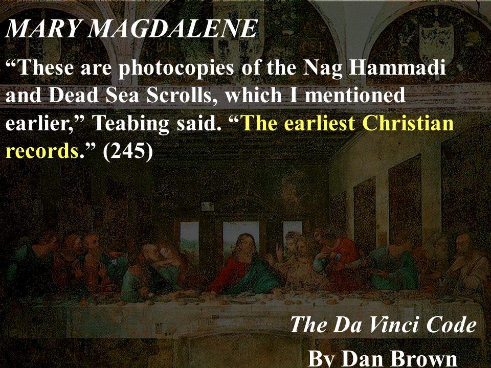 MARY MAGDALENE The Da Vinci Code By Dan Brown